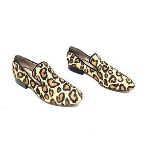 Sam Edelman Leopard Print Calf Hair Loafer Flats